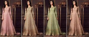 DéTerminé Salwar Kameez Suit Indian Designer Anarkali Dress Pakistani Bollywood Ethnique Fm-afficher Le Titre D'origine 100% D'Origine