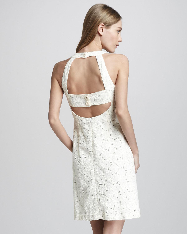 NANETTE LEPORE 'Santa Monica' Cut Out Eyelet Lace Mini Dress  Ivory NWT