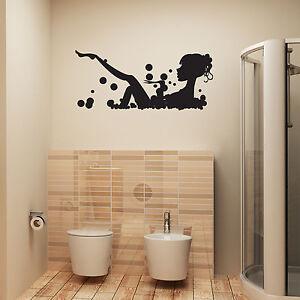 Perfect Image Is Loading Bathroom Wall Art Sticker Girl In Bubble Bath