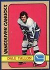 1972 Topps Dale Tallon #15 Hockey Card