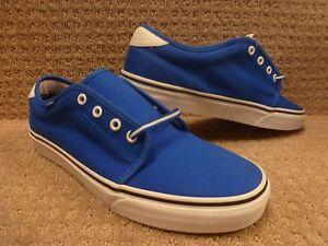 Hombre 11 Vulcanizado Vans azul Zapatos Talla 159 Náutica negro Ffp6P4pca