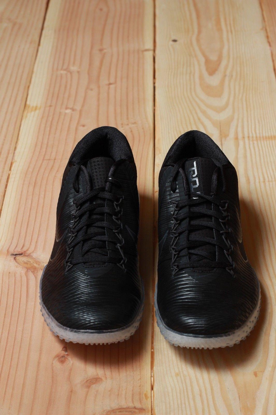 Nike Zoom Trout 3 TF Turf Baseball Shoes Black Anthracite Ice 844628-001 Sz 8.5