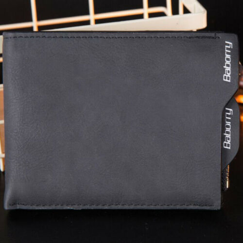 Mens RFID BLOCKING Leather Wallet Zip Coin Pocket Business Purse ID Card Holder