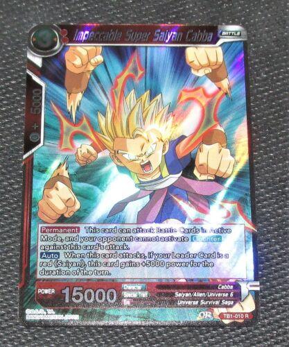 Impeccable Super Saiyan Cabba TB1-010 R Dragon Ball Super TCG NEAR MINT
