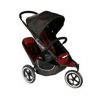 Phil & Teds Classic V2 Stroller With Second Seat + Second Seat In Red
