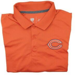 Nike Chicago Bears Men's Large Orange Performance Golf Polo Polyester