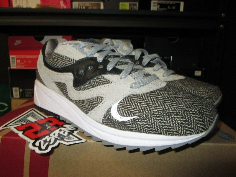 SALE SAUCONY GRID 8000 CLASSIC HT TAILORED GREY BLACK WHITE S70352-1 NEW MENS