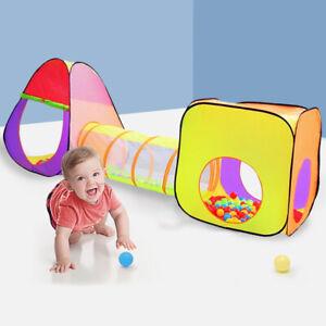 Spielzelt-Kinderzelt-Baelle-Pop-up-Tunnel-Kinderschloss-Baby-Spielhaus-Hause
