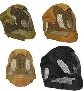 Airsoft Quality Full Face Fencing Mask Bb Gun Ear Mesh Mask