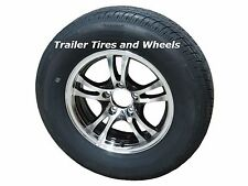 "JBR 205/75R15 LRC 6 PR Radial Trailer Tire 15"" 5 Lug Aluminum Trailer Wheel"
