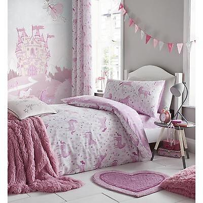 Catherine Lansfield Kids Children's Girls Folk Unicorn Duvet Cover Bedroom Range