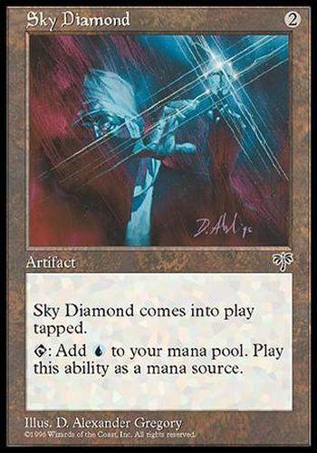 MIRAGE #319 ENGLISH Magic MTG ▼▲▼ Sky Diamond Diamant du ciel
