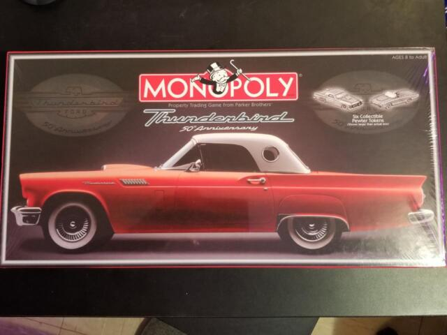 Monopoly Ford Thunderbird 50th Anniversary Collector S Edition Factory Sealed