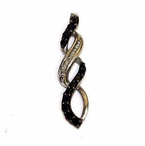 10k-white-gold-black-white-diamond-heart-pendant-charm-19ct-SI2-H-1-1g-estate