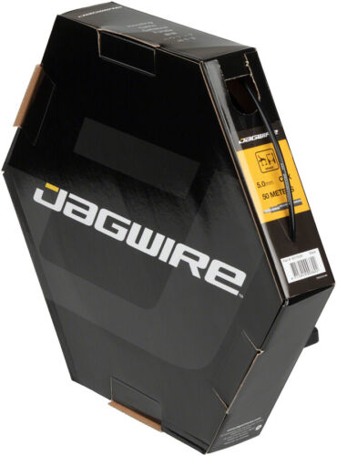 Jagwire 5mm Basics Brake Housing 50M File Box Black Brake Housing File Boxes