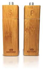 Wooden Salt and Pepper Grinder Set - Bamboo Salt and Pepper Mills