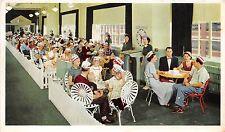 Advertising postcard Kellogg Plant tour refreshments area Corn Flakes cereal