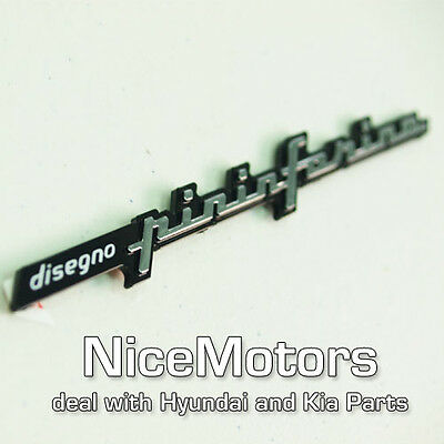 COUPE Genuine PININFARINA Letter Decal EMBLEM Badge For Hyundai GENESIS