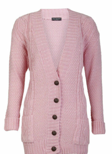 Ladies Chunky Button Cardigan