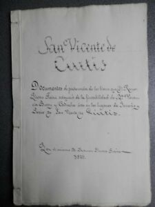 MANUSCRITO AÑO 1880 FISCALES 6º Y 11ºS SAN VICENTE DE CURTIS A CORUÑA PERTENENCI