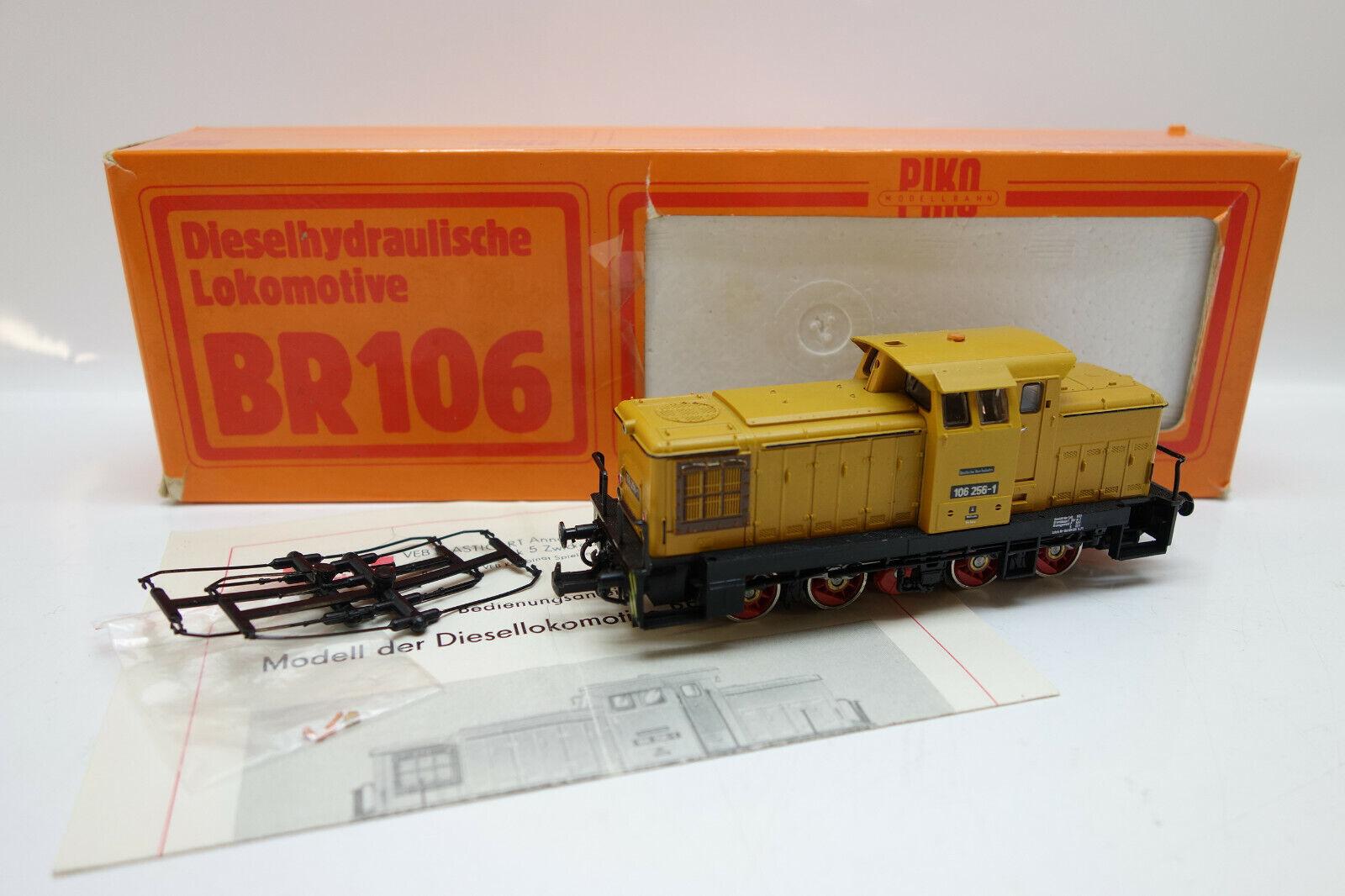 LOT 55770   Piko H0 EM25 Diesellok BR 106 256-1 der DR orange fahrbereit in OVP
