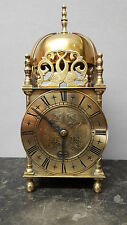 Vintage Large Smiths Brass Lantern Clock with Synchronous Electric Movement
