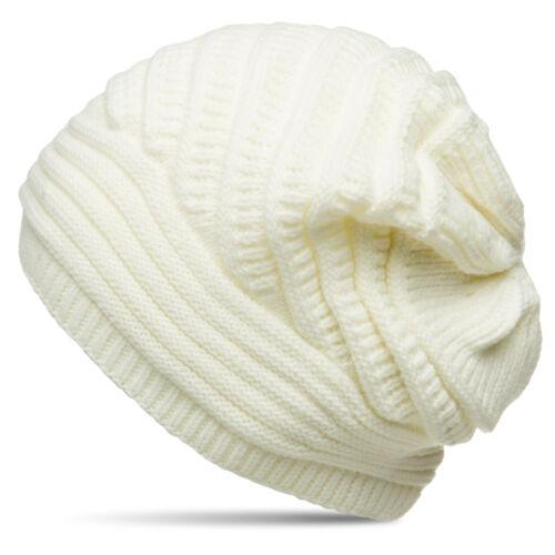 Caspar MU171 Damen grob gestrickte gefütterte Winter Beanie Mütze Strickmuster