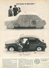 1963 MG Sport Sedan Original Advertisement Print Car Ad J542