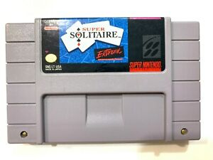 Super-Solitaire-SNES-Super-Nintendo-Game-Tested-Working-VERY-GOOD