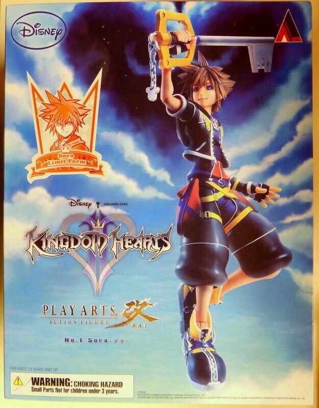 KINGDOM HEARTS II PLAY ARTS KAI Sora Limit Form Figure Square Enix NEW