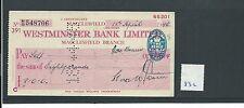 WBC. - ASSEGNO-ch832-Usato -1945 - Westminster Bank, MACCLESFIELD