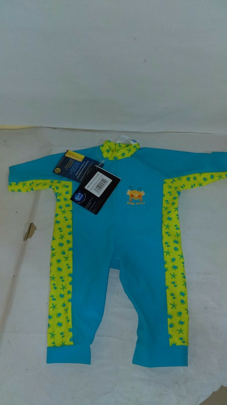 Splash About Kids UV All-in-One Sun Predection Suit Bobbing Turquoise 3-6 Months