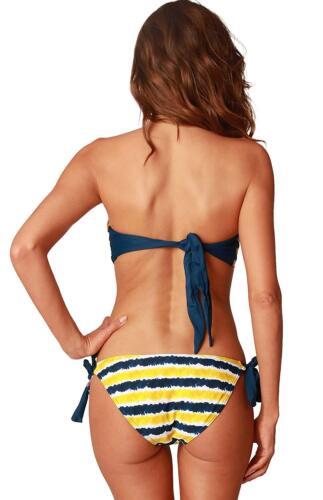 Corona Women/'s Tie Dye Twist Bandeau Bikini and Side Tie Bikini Bottom T4179