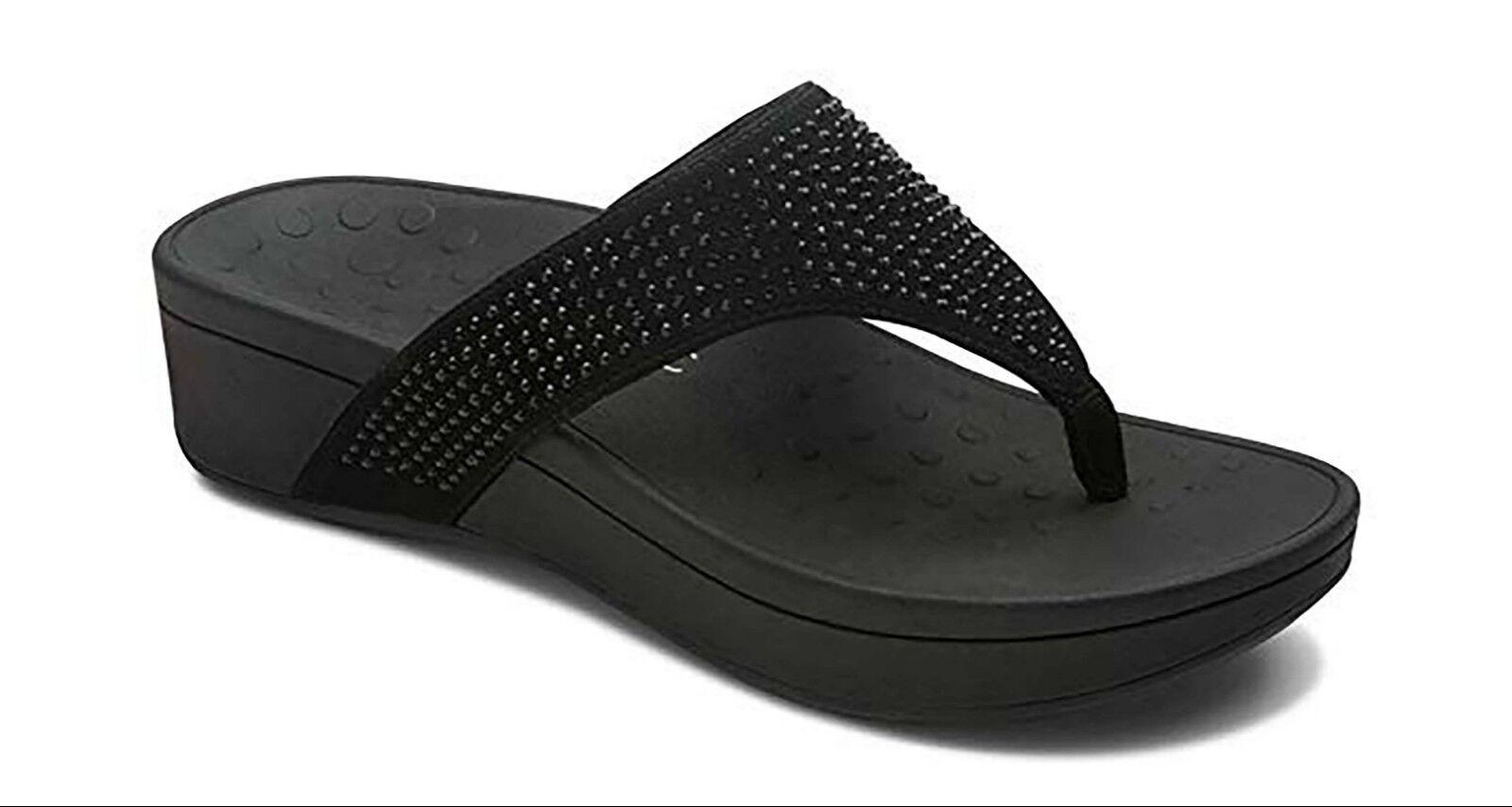 Vionic Women's Naples Slip-On Thong Sandals, Black Size 8