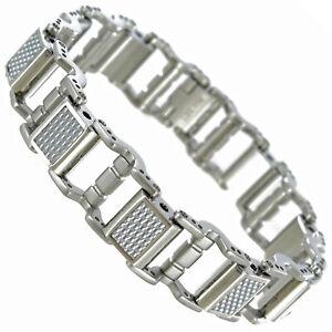 Rochet-Roma-Moto-GP-Racing-Checker-Link-Stainless-Steel-Modern-Mens-Bracelet