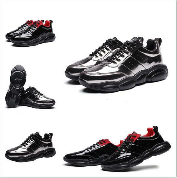 2019 Spring New Mens shoes Jogging Sneaker Casual Comfort Board Lace Up Wedge Hot