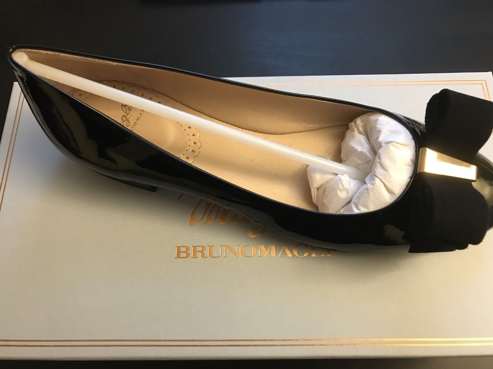 1327823116a23 Bruno Magli Eldora Flat made in ITALY brand new new new msrp 470 ...