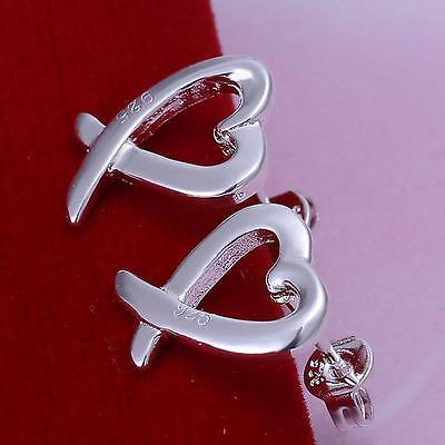 wholesale 925 silver heart earrings ear stud fashion jewelry women's gift