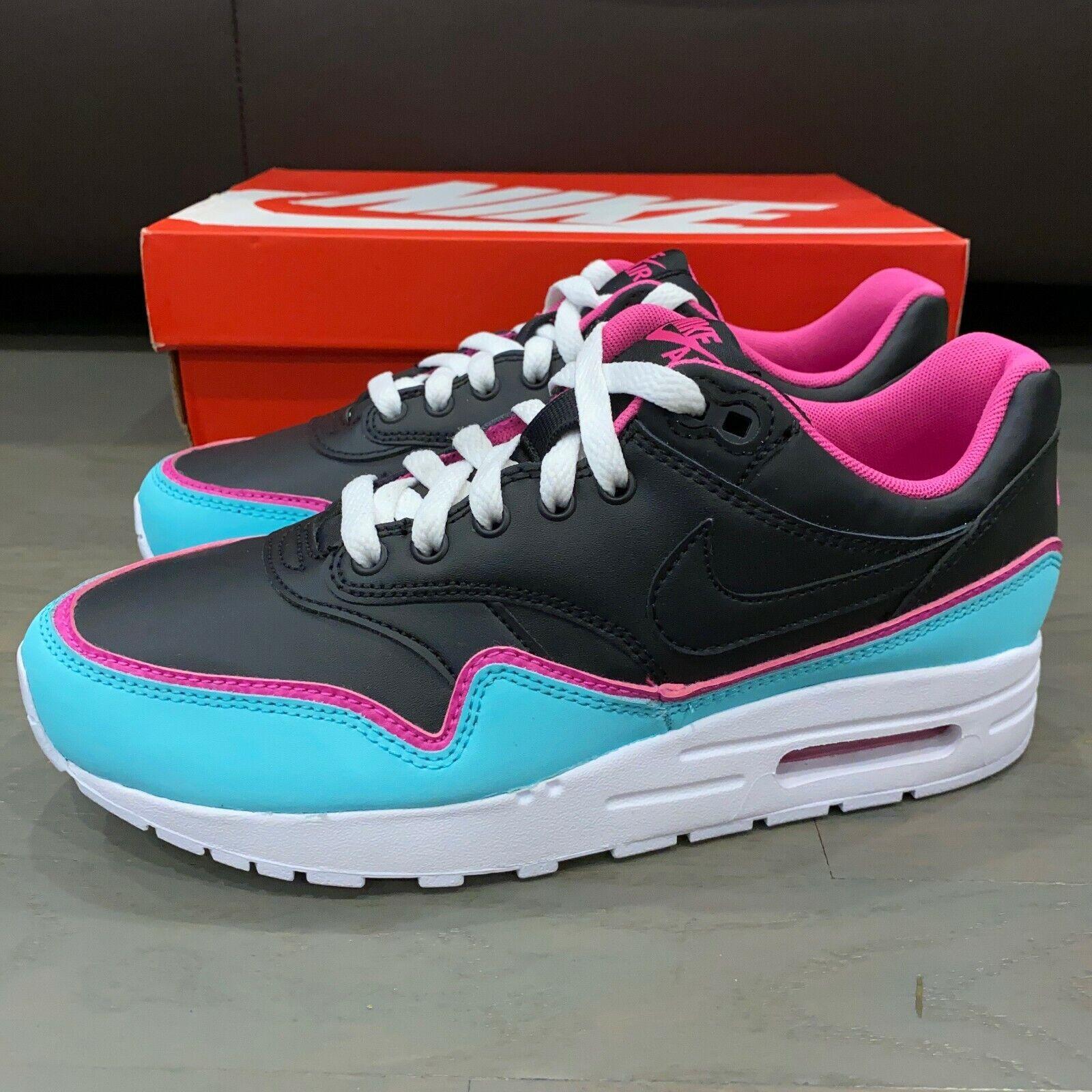Nike Air Max 1 GS Double Layered Aqua Fuchsia Youth 6.5Y / Women 8 BV0052-001