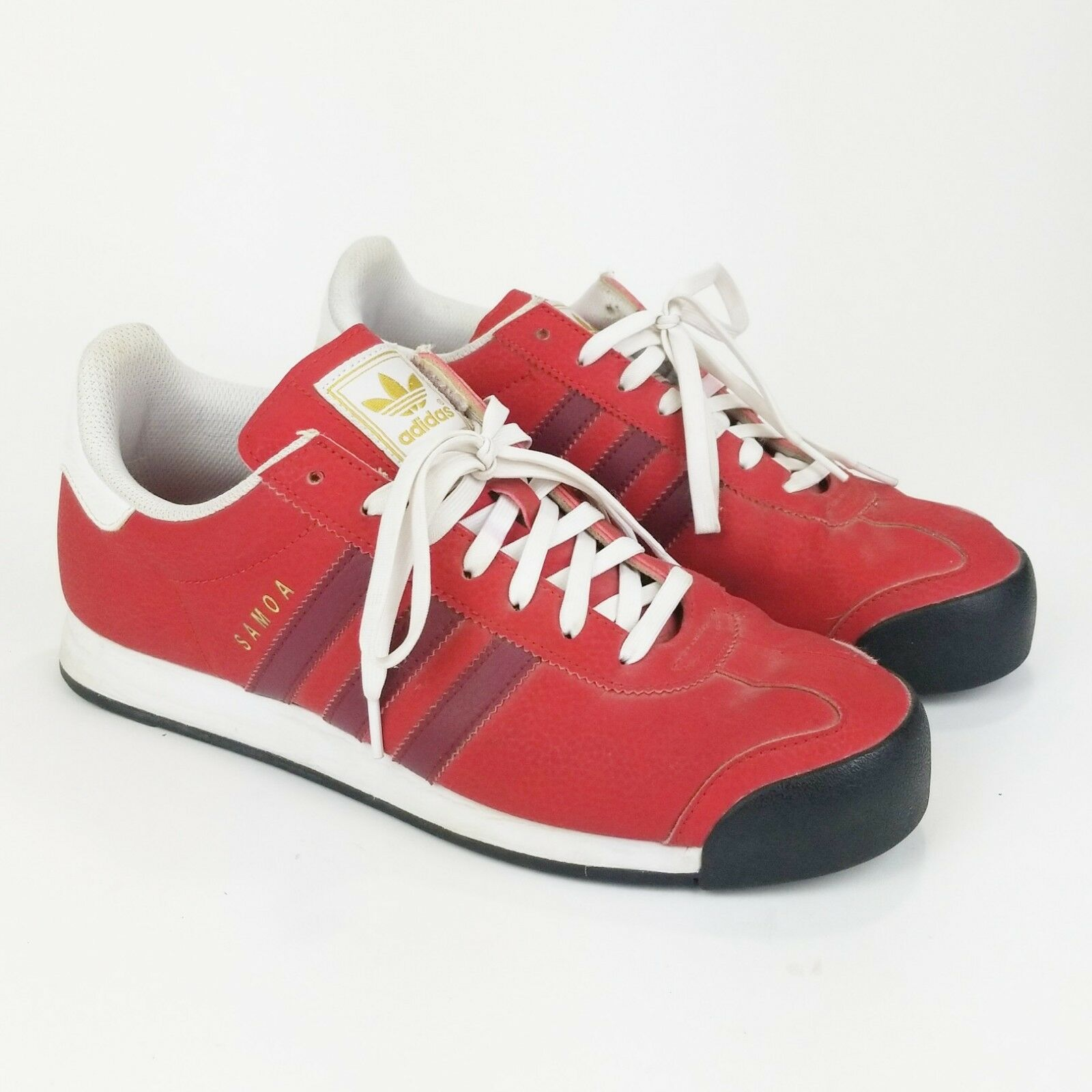 VTG Adidas Mens shoes Sz 8.5 Red Somoa Sneakers