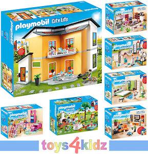 Playmobil city life modernes wohnhaus 9266 9272 zum for Casa moderna playmobil 9266