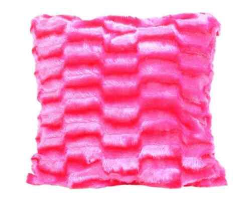 "Faux Fur Cushion Covers 17/"" x 17/"" Fusion Solace Shiny Cushion Covers 7 Colours"