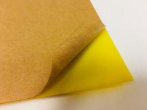 Yellow Translucent Acrylic Plexiglass sheet 1/16\