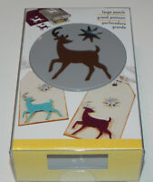 Ek Success Large Paper Punch - Elegant Deer (htf Christmas Reindeer Star Punch)