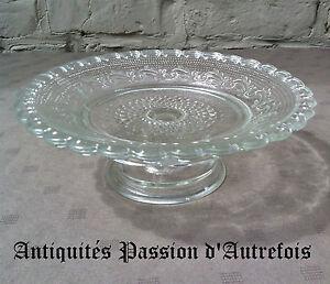 B20131046 - Plat à biscuits en verre 1930-40 - Très bon état