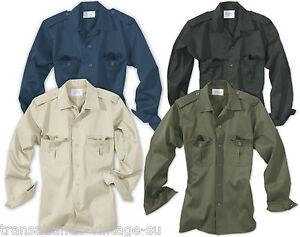Surplus-hombre-manga-larga-funcional-Militar-Guardia-de-seguridad-camisa-trabajo