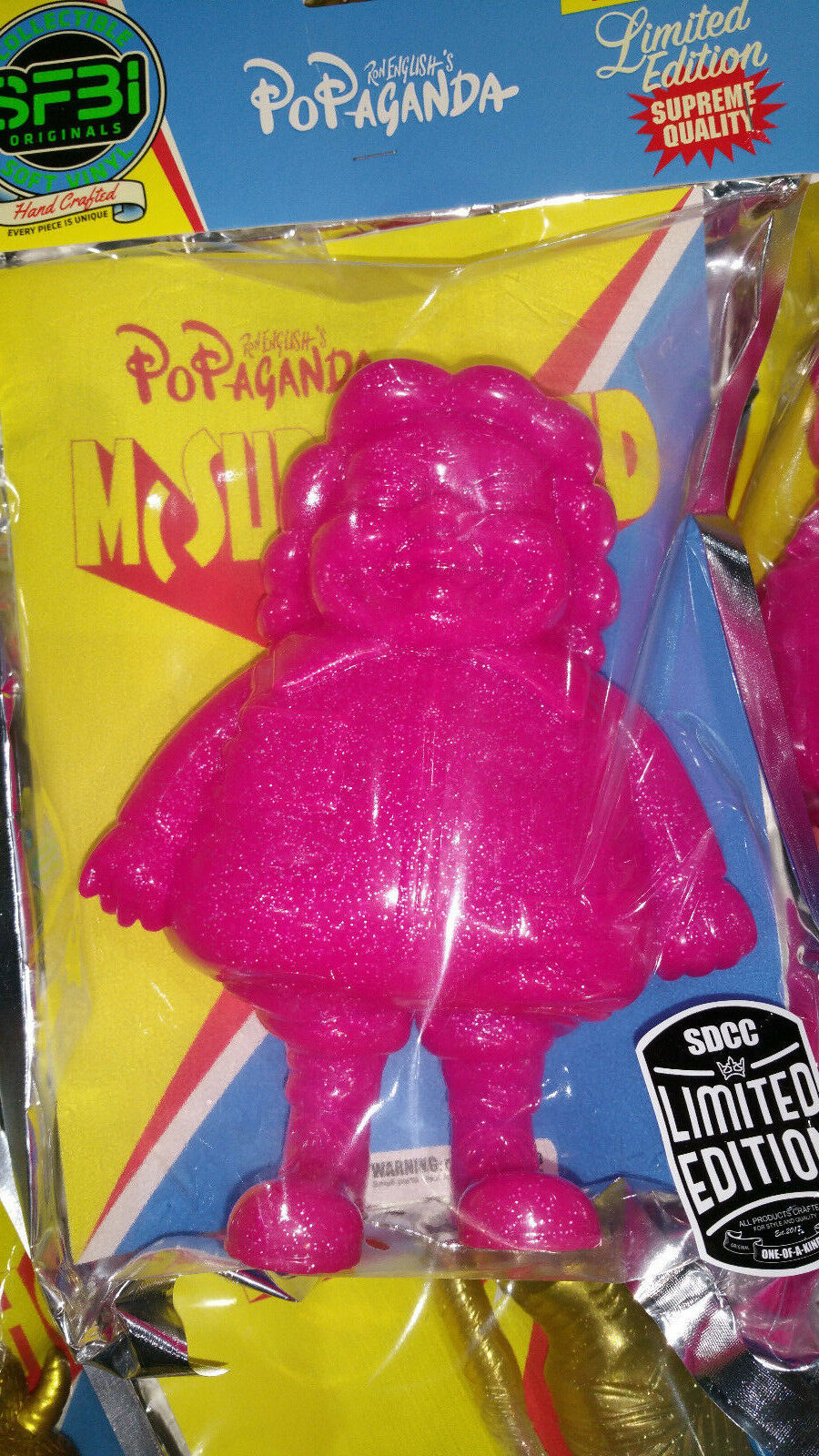 SDCC 2017 exclusive PINK GLITTER Mc SuperSized by Ron English vinyl sofubi 29 50