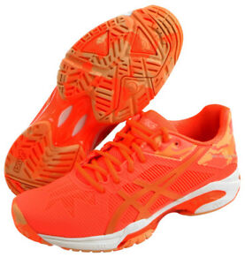 76b624f4087 ASICS GEL Solution Speed 3 L.E. Women's Tennis Shoes Orange Racket ...