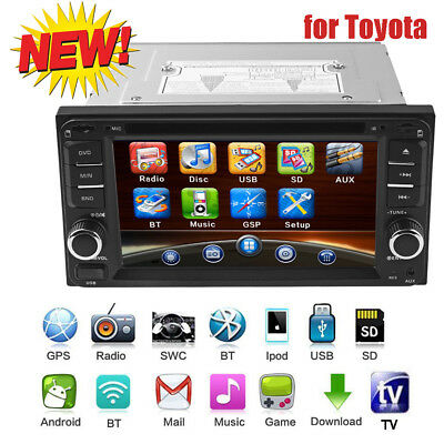 Universal 6.5'' Car Radio GPS Navigation Media DVD Player fit for Toyota  +MaP