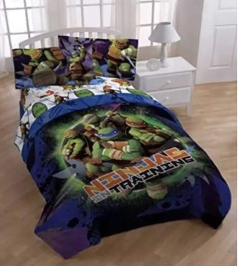 Teenage Mutant Ninja Turtles in training 3 pièces réversible Twin Taille Couette